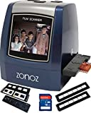 zonoz 22MP All-In-1 Film & Slide Scanner w/ Speed-Load Adapters for 35mm Negative & Slides, 126, 110, Super 8 Films, Worldwide 110/24AC Adapter 16GB SD Card & Extra Trays (FS-THREE BUNDLE)
