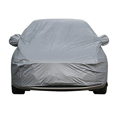 Sipobuy auto afdekzeil, waterdichte, krasbestendig, duurzame autoafdekking, ademend katoen, heavy duty