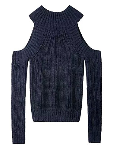 Choies Turtleneck Shoulder Pullover Sweater