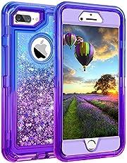 "iPhone 8 Plus Case, iPhone 7 Plus Case, Coolden 3D Glitter Sparkle Dual Layer Quicksand Liquid Cover Shockproof Bumper Anti-Drop PC Frame + TPU Back for 5.5"" Apple iPhone 7/8 + Plus"