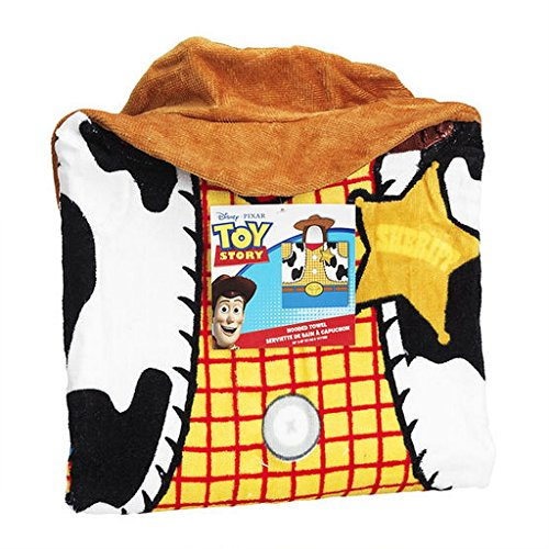 Disny Pixar TOY STORY WOODY Children's Hooded Terry Cloth Towel Poncho -