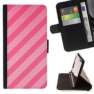 Momo Phone Case / Flip Funda de Cuero Case Cover - Parallel Lines Fuchsia Pattern - Samsung Galaxy Note 5 5th N9200