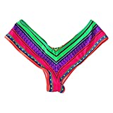 TOPMELON Womens Swimwear Sexy Sweet Heart Brazilian Bikini Bottom Hipster Swimsuit Beachwear Swimwear