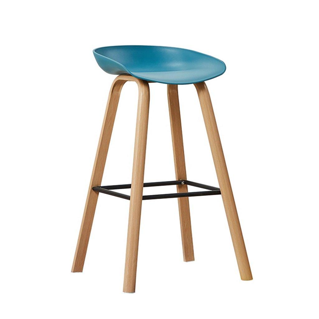 高いスツールバーキッチンダイニングチェア朝食用スツール| Barstool PPシートハイチェアレジャーシートレトロインダストリアルデザイン (色 : Blue) B07F9G3Z94 Blue Blue