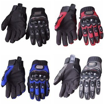 Walid- Full Finger Safety Bike Motorcycle Racing Gloves for Pro-biker MCS-01B (Size:XX L )