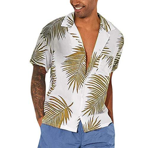 YKARITIANNA Men's Summer Button Hawaii Print Beach Pocket Short Sleeve Quick Dry Top Blouses 2019 Summer Hot Sale