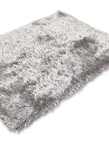 Modern Style Rugs Super Sparkle Tones Plain Thick 7cm Shaggy Luxury Quality...