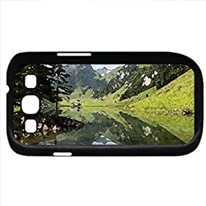 Beautiful View (Mountains Series) Watercolor style - Case Cover For Samsung Galaxy S3 i9300 (Black)