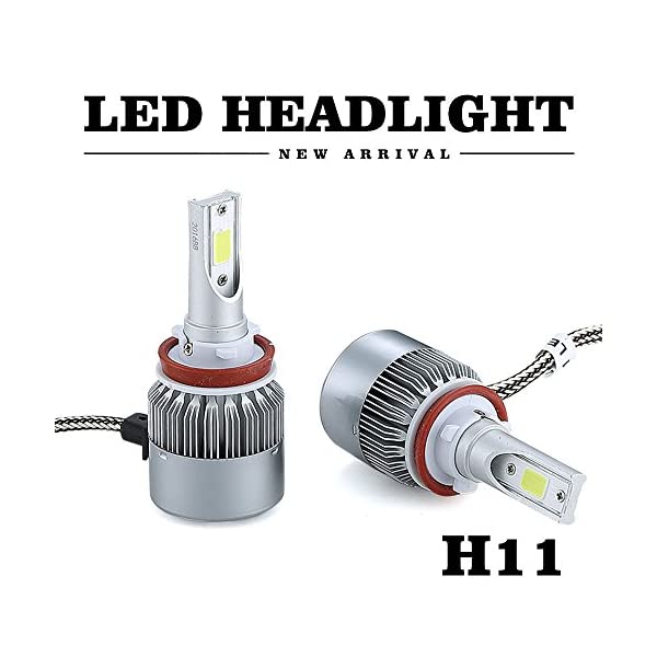 SPE LED Headlight Kit W/COB Beam Bulbs   72w 7600Lm 6000K Cool White CREE   1 Yr Warranty