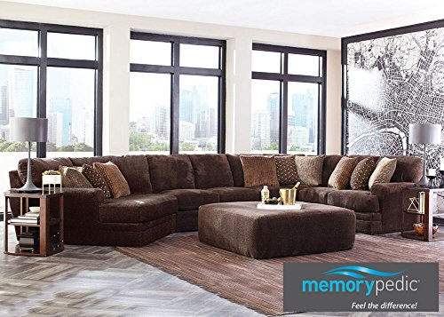 Denali Chocolate 3 Pc. Sectional With Cuddler Chaise - Sofa