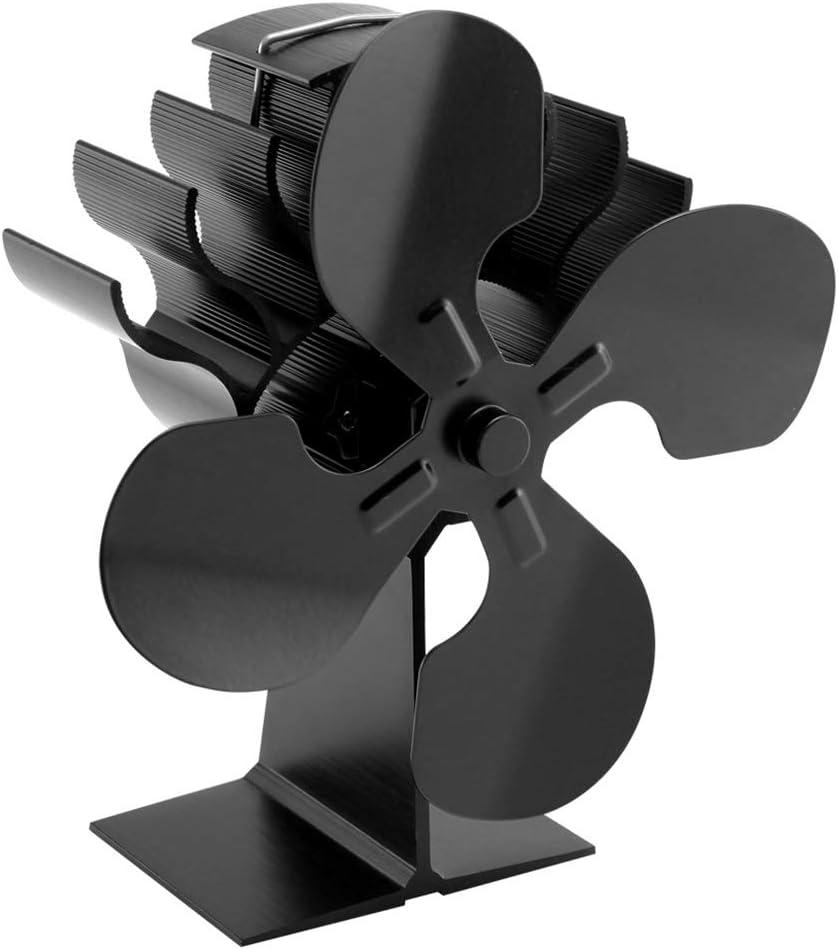 JENOR - Ventilador para Horno de leña de 4 Hojas con calefacción, para Chimenea, Ventiladores respetuosos con el Medio Ambiente