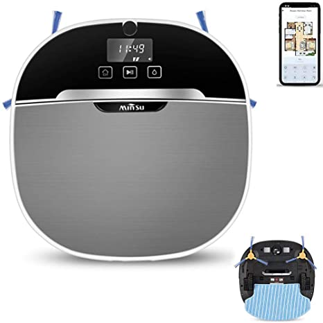 MAKE FINE Robot Aspirador con Función De Limpieza App Y Alexa ...