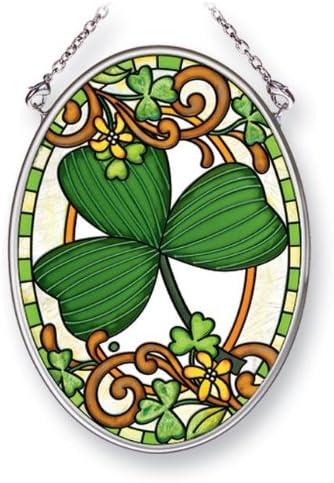 Irish stained glass window hanging Irish gift designed in Galway Ireland. Irish Slainte Suncatcher