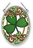 Amia 41455 Irish Clover 3-1/4 by 4-1/4-Inch Oval Sun Catcher, Small