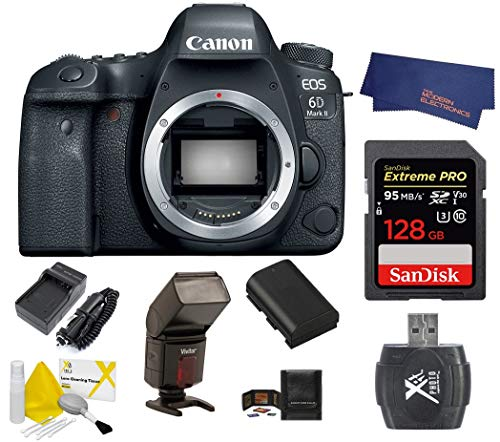Canon EOS 6D Mark II (EOS 6D Mark II Body + 128GB Extreme PRO Card)