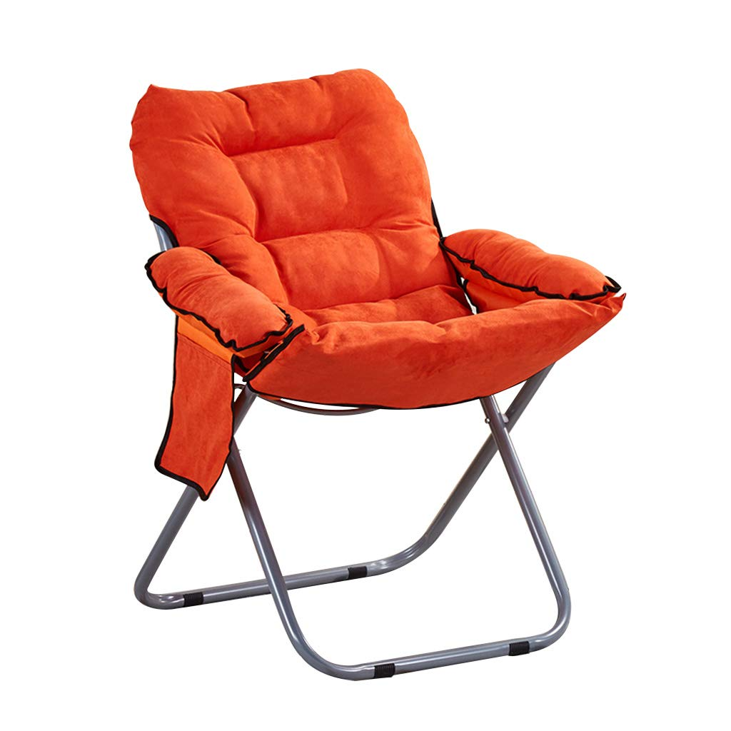 CFJRB 産業スタイルBarStool | ヴィンテージアイアン折りたたみチェアリビングルームレストランの3つの歯の調整角度 (色 : Orange) B07MMDLJTT Orange