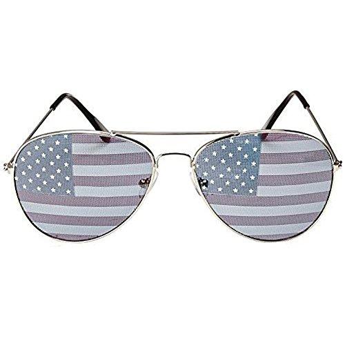 PATRIOTIC Trendy USA American Flag Print Aviator Sunglsses - Eyeglass American Made Frames