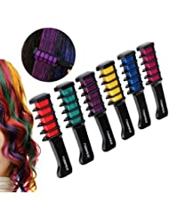 PIXNOR Hair Chalk Comb Shimmer Temporary Hair Color...
