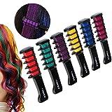 Rosenice Hair Chalk Comb Shimmer Temporary Hair Color Cream 6pcs