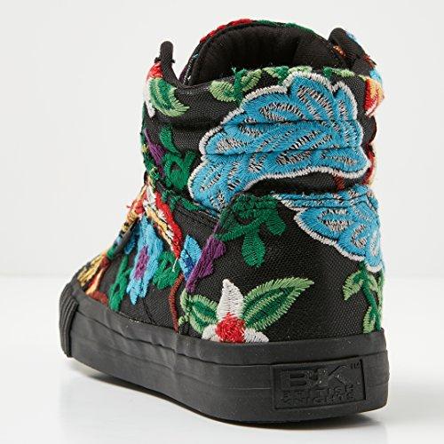 British Knights Dee Vrouwen High-top Sneaker Shoe Zwart / Bloemen / Zwart