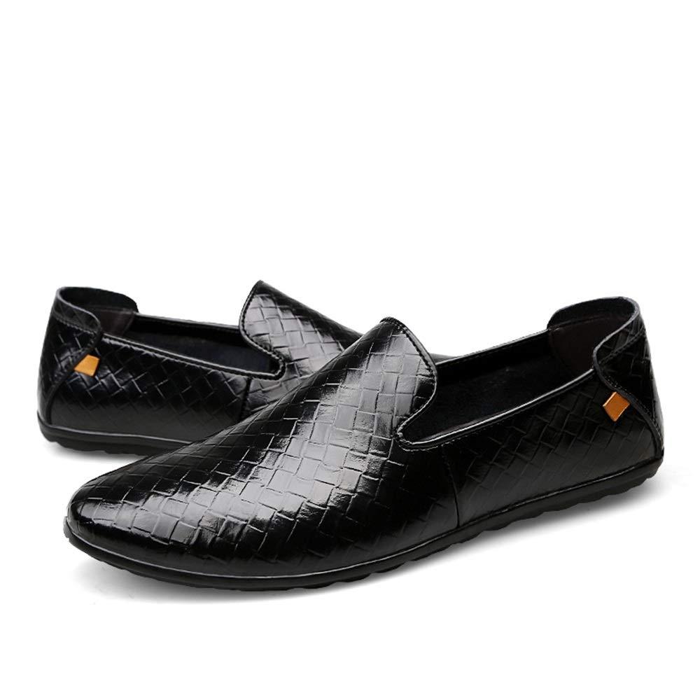 Easy Easy Easy Go Shopping Müßiggänger-Stiefel-Mokassins-Freizeitschuhe der Männer Mode gesponnene Beschaffenheit ziehen auf Flache runde Zehe,Grille Schuhe  2b8cdd