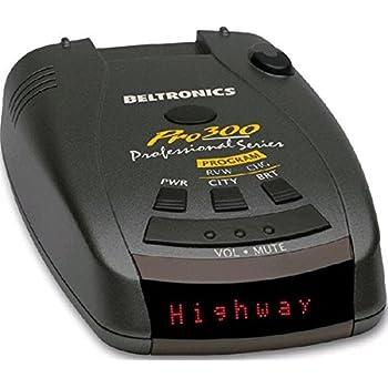 Beltronics PRO300 Radar & Laser/Lidar Detector with Audible Voice Alerts 360-Degree Protection