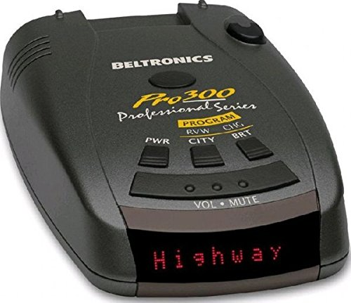 Beltronics PRO300 Radar & Laser/Lidar Detector with Audible Voice Alerts 360-Degree Protection