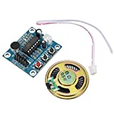 10pcs ISD1820 3-5V Recording Voice Module Recording And Playback Module SCM Control Loop Play/Jog Play/Single Play Function With Microphone And 0.5W 8R Speaker -
