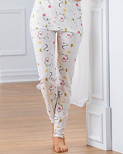 Indera Women's Combed Cotton Raschel Knit Thermal Underwear Pant
