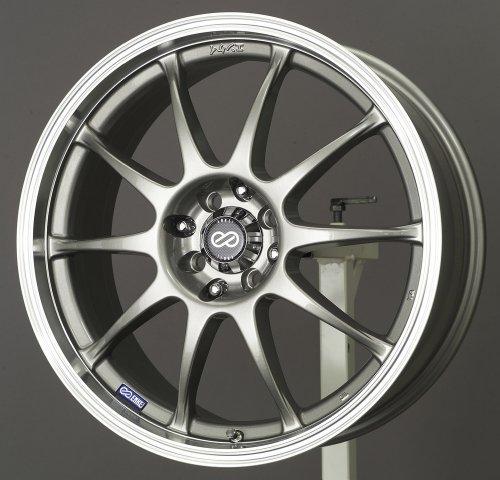 17 Enkei Rims - 17x7 Enkei J10 (Silver w/ Machined Lip) Wheels/Rims 4x100/114.3 (409-770-10SP)