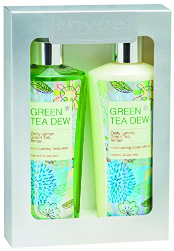 Green Mist Tea Cologne (Hype Gift Set Body Lotion And Body Mist, Green Tea)