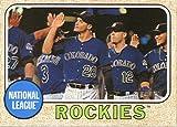 2017 Topps Heritage Baseball #129 Colorado Rockies Rockies
