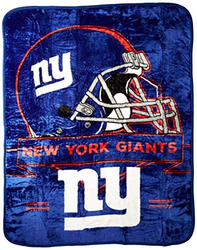 The Northwest Company NFL New York Giants Prestige Plush Raschel Blanket, 60