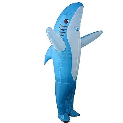ZXL Disfraz de Cosplay Adulto de tiburón Inflable de Halloween ...