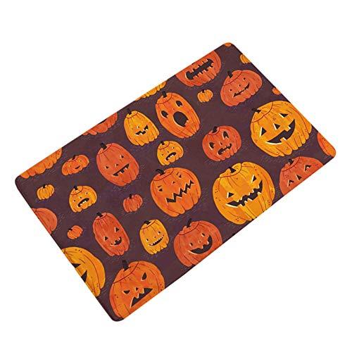 (Jeeke Halloween Anti-Slip Floor Mat,Halloween Pumpkin Carpet Non-Slip Mat for Bedroom Kitchen Bathroom Halloween Decoration (Color C,)