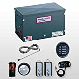 Power Master Sliding Gate Opener RSG2000 14ft 450lbs Kit Includes Slide Gate Operator,20ft Chain,2 Chain Bolts,2 Gate Brackets,2 Master links,2 Warning Signs,1 Wireless Keypad,1 Liftmaster Receiver TCg2, 2 Remotes,1 EMX Safety Photo Cell,1 Exit Wand