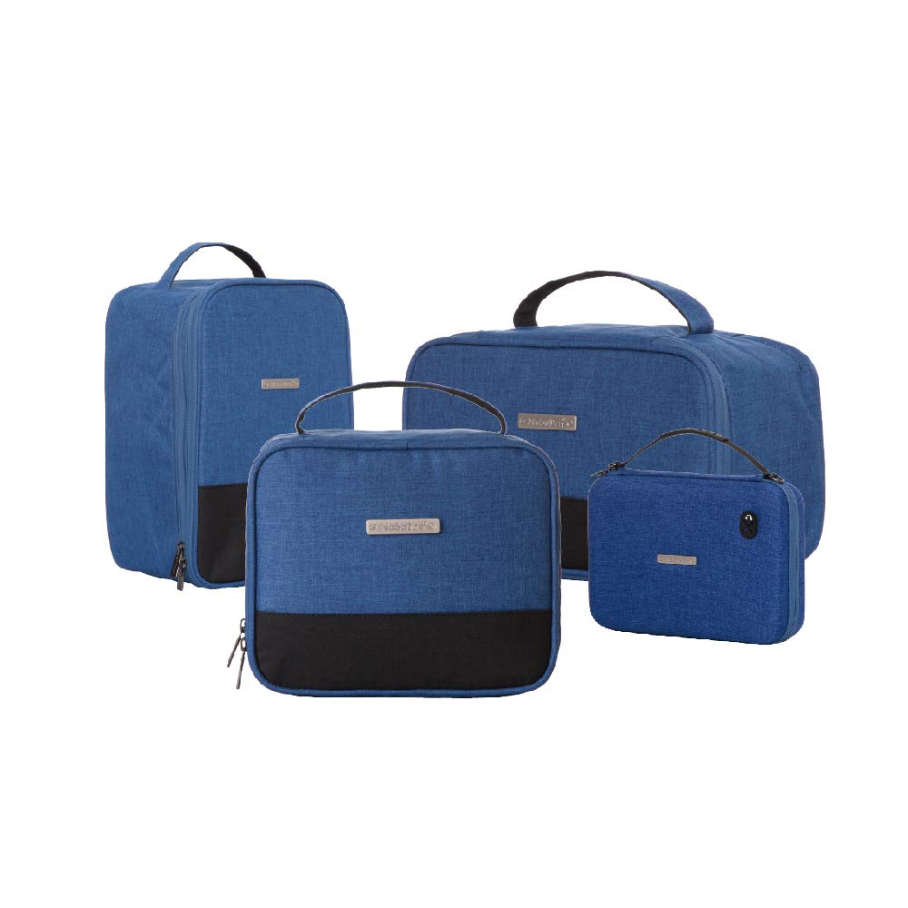 NaSaDen Packing Cubes- 4 in 1 packing organizers,Fashion waterproof travel toiletry bag cosmetic bags make up cases with great compartments for men/women/girls by NaSaDen