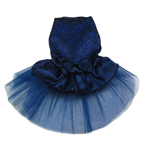 Alfie Pet by Petoga Couture - Shirley Tutu Party Dress - Color: Navy, Size: Small by Alfie (Image #1)