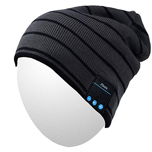 - Qshell Winter Comfy Bluetooth Beanie Washable Hat w/Basic Knit Music Cap with Speakers & Mic Hands Free Wireless Bluetooth Headphones Headsets for Running Skiing Skating Hiking,Christmas Gifts
