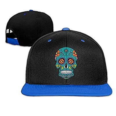 Sugar Skull Snapback Hats Hip Hop Baseball Caps Unisex by monogram doormat