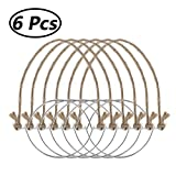 Packs Vintage Wire Hangers for Regular Mouth Mason Ball Canning Jars Hanger Night Lamp Solar Light Halloween Lanterns 6pcs One Size