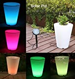 Solar Flower Pot Lights Led Planter Vase Lamp-garden Outdoor Yard Home Decoration Light- Landscape Lighting - Solar Illuminated Planter