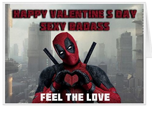 FUNNY DEADPOOL VALENTINES CARD