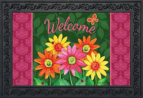 Briarwood Lane Welcome Daisies Spring Doormat Floral Indoor Outdoor 18 x 30