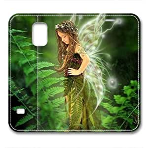 iCustomonline Leather Case for Samsung galaxy S5, Faerie Girl Ultimate Protection Leather Case for Samsung galaxy S5