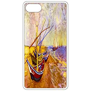 Boats Of Saintes-Maries By Van Gogh Painting By Vincent Van Gogh White Apple Iphone 6 (4.7 Inch) Cell Phone Case - Cover