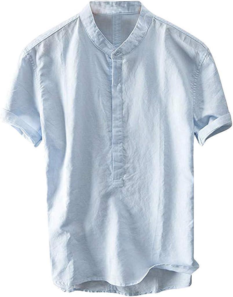 MOTOCO Camisa de Hombre Camiseta de Manga Corta Top Polos Collar ...