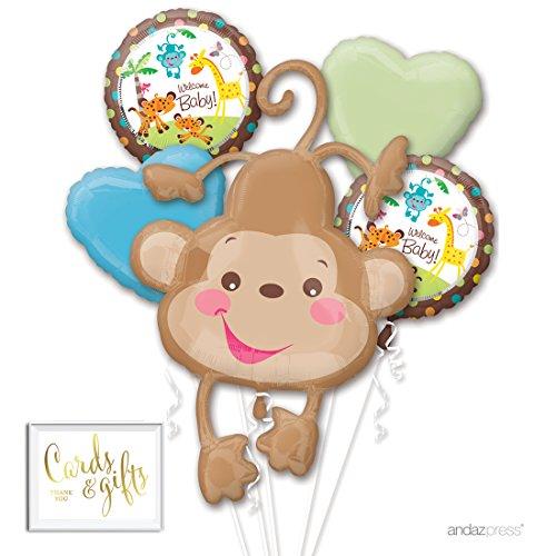 monkey baby shower balloons - 1
