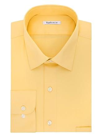 d3981bbb2b853 Van Heusen Slim-Fit Lux Sateen No-Iron Dress Shirt (Pineapple