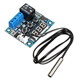 Control Module Switch, ELEGIANT Mini Digital Thermostat DC 5V - 50 to 110'' Temperature Controller Board Electronic Temperature Temp with Waterproof Sensor Probe Applicable Arduino